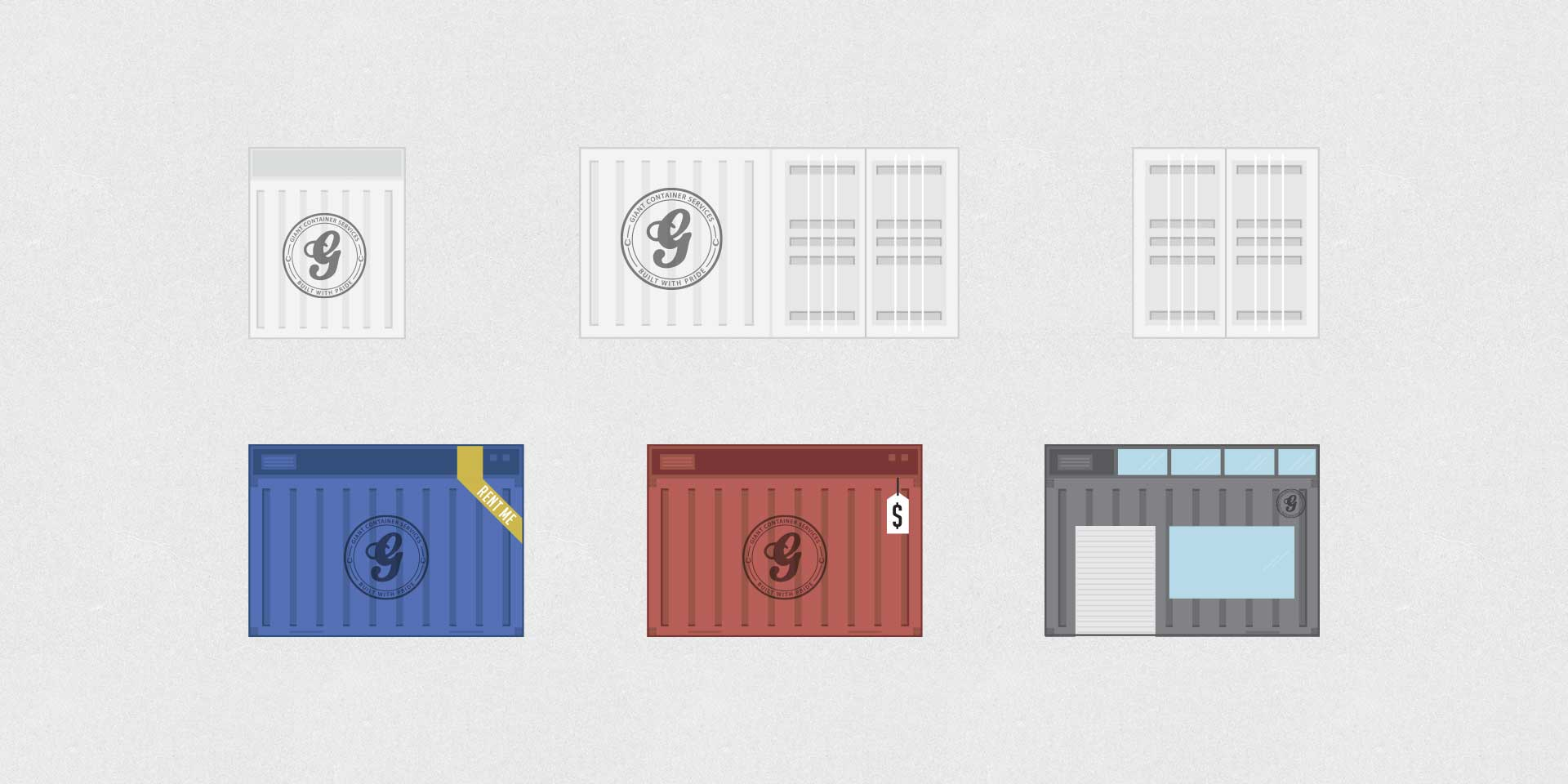 Giant Container Illustrations