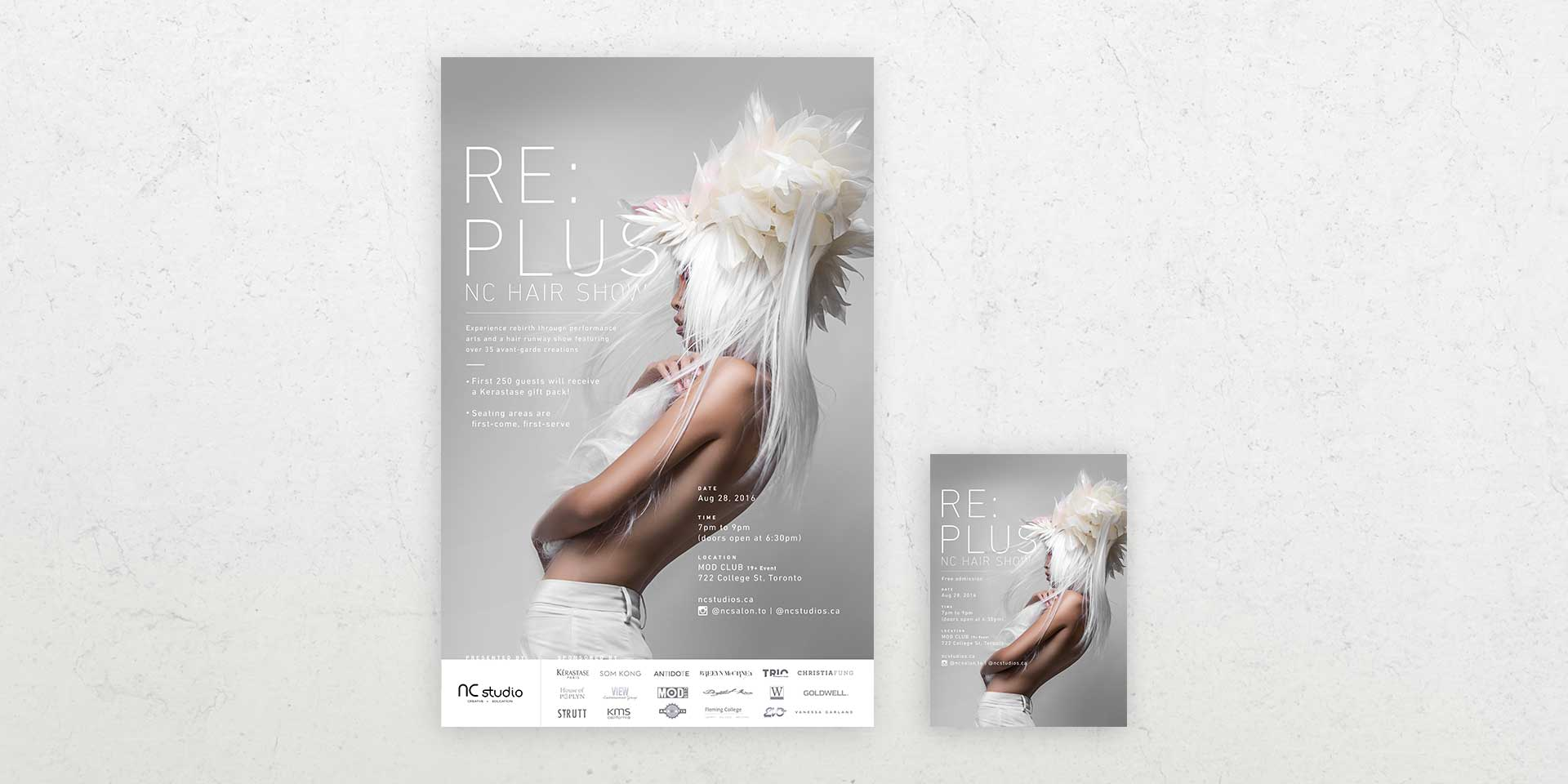 Re Plus poster and flyer hand out